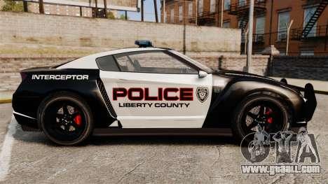 GTA V Police Elegy RH8 for GTA 4 left view