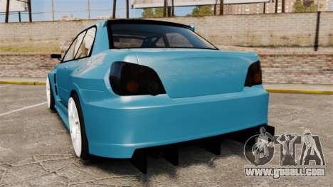 Subaru Impreza HD Arif Turkyilmaz for GTA 4 back left view