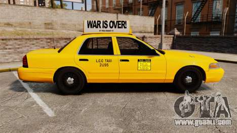 Ford Crown Victoria 1999 LCC Taxi for GTA 4 left view