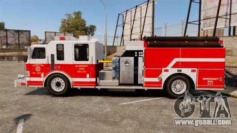 Firetruck Alderney [ELS] for GTA 4 left view
