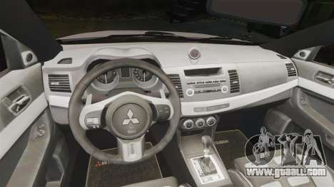 Mitsubishi Lancer Evolution X Police [ELS] for GTA 4 inner view