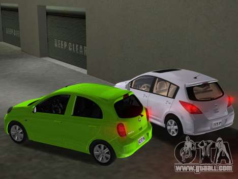 Nissan Tiida for GTA Vice City interior