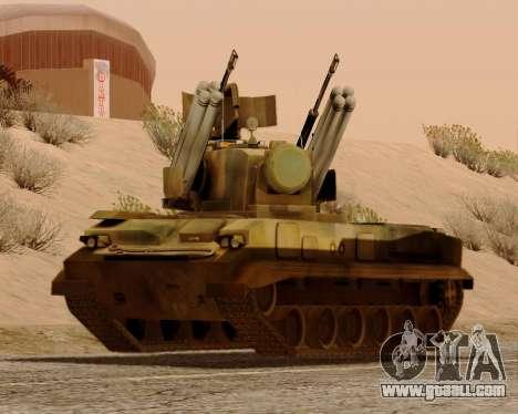 2S6 Tunguska for GTA San Andreas