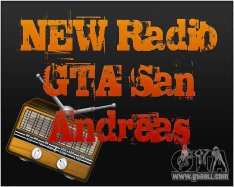 New radio for GTA San Andreas