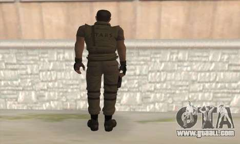 Chris Redfield v2 for GTA San Andreas second screenshot