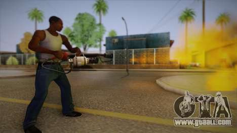 Flamethrower from Team Fortress for GTA San Andreas third screenshot