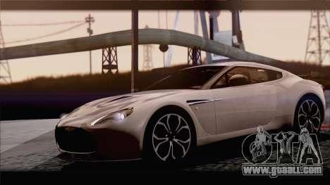 Aston Martin V12 Zagato 2012 [IVF] for GTA San Andreas back view