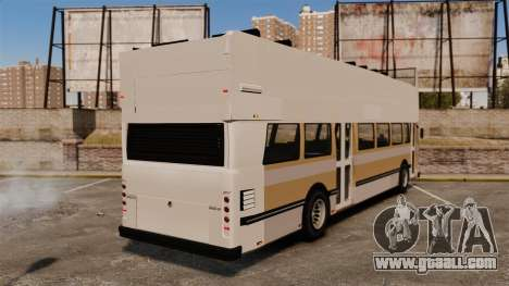 Tourist bus for GTA 4 back left view