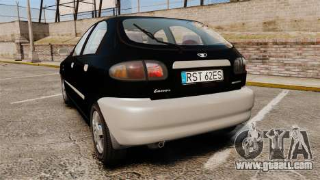 Daewoo Lanos Style 2001 Limited version for GTA 4 back left view