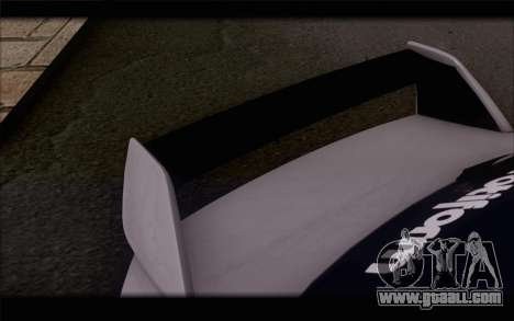 Mitsubishi Lancer Evolution Stance for GTA San Andreas back view