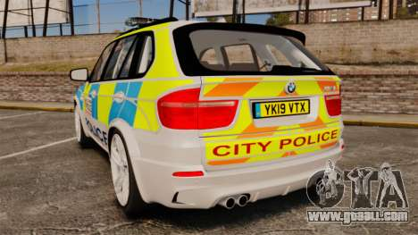 BMW X5 Police [ELS] for GTA 4 back left view