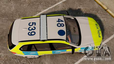 BMW X5 City Of London Police [ELS] for GTA 4 right view
