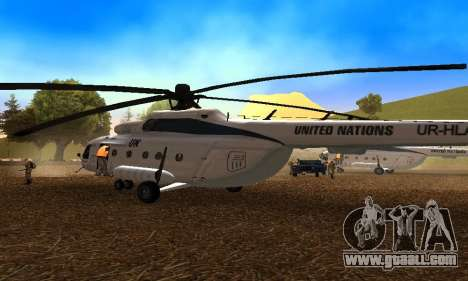 MI 8 UN (United Nations) for GTA San Andreas right view