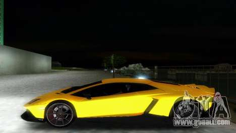 Lamborghini Aventador LP720-4 50th Anniversario for GTA Vice City inner view