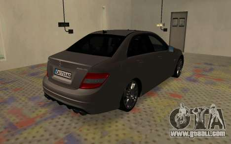 Mercedes-Benz C63 AMG for GTA San Andreas back left view