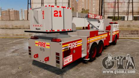 Seagrave Aerialscope Tower Ladder 2006 FDLC for GTA 4 back left view