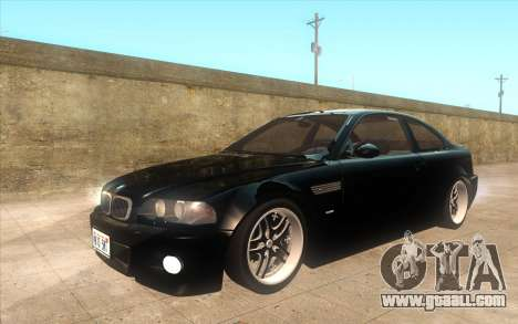 BMW M3 e46 Duocolor Edit for GTA San Andreas inner view
