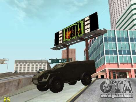 BTR-40 for GTA San Andreas side view