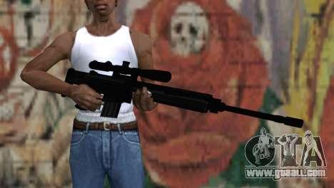 Snajperckaâ rifle Black for GTA San Andreas third screenshot