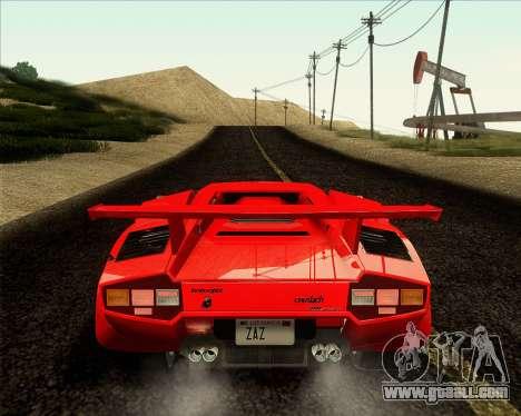 Lamborghini Countach LP500 Quattrovalvole 1988 for GTA San Andreas back view