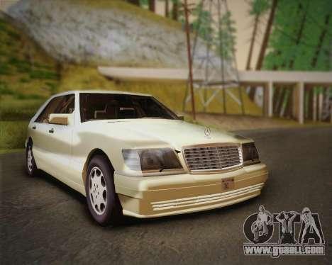 Mercedes-Benz S600 V12 Custom for GTA San Andreas back left view