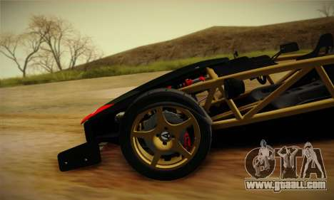 Ariel Atom 500 2012 V8 for GTA San Andreas upper view