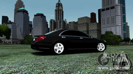 Mercedes-Benz S-Class W222 2014 for GTA 4 bottom view