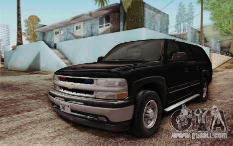Chevrolet Suburban FBI for GTA San Andreas left view