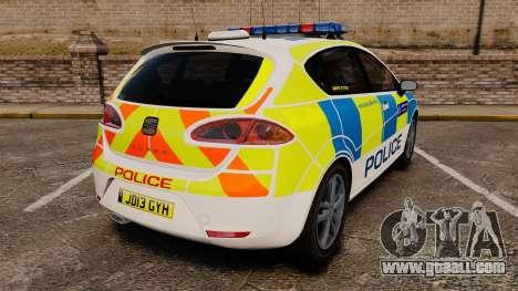 Seat Cupra Metropolitan Police [ELS] for GTA 4 back left view