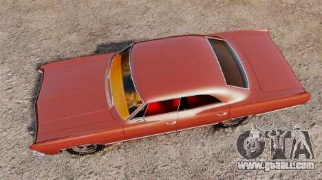Chevrolet Impala 1967 for GTA 4 right view