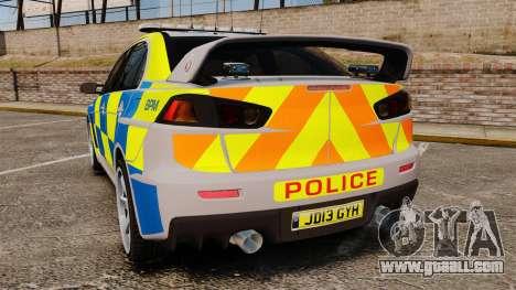 Mitsubishi Lancer Evolution X Police [ELS] for GTA 4 back left view