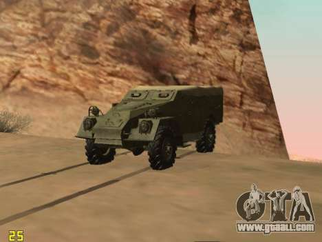 BTR-40 for GTA San Andreas back left view