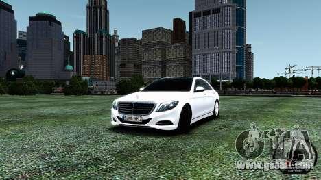 Mercedes-Benz S-Class W222 2014 for GTA 4