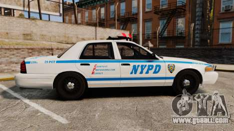 Ford Crown Victoria 1999 NYPD for GTA 4 left view