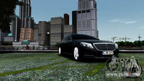 Mercedes-Benz S-Class W222 2014 for GTA 4 left view