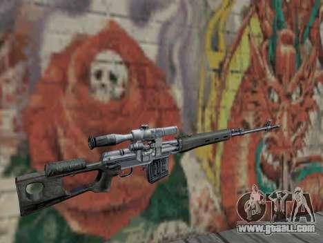 Sniper rifle of S.T.A.L.K.E.R. for GTA San Andreas second screenshot