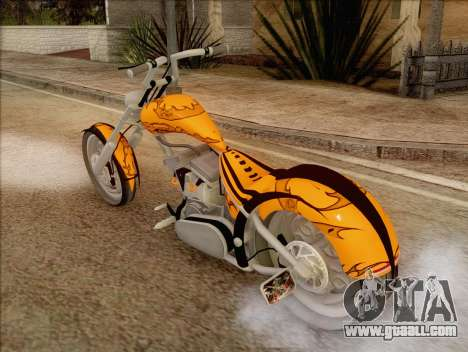 Sons Of Anarchy Chopper Motorcycle for GTA San Andreas left view
