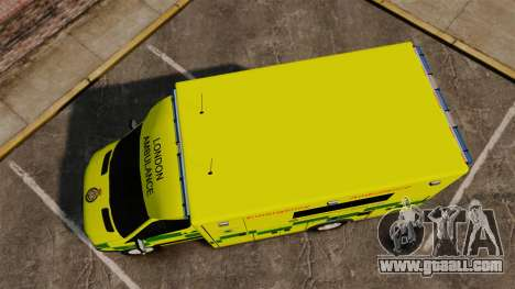 Mercedes-Benz Sprinter [ELS] London Ambulance for GTA 4 right view