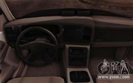 Chevrolet Suburban FBI for GTA San Andreas inner view