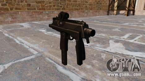 MP9 submachine gun tactical for GTA 4