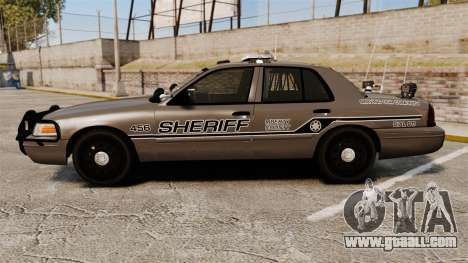 Ford Crown Victoria 2008 Sheriff Traffic [ELS] for GTA 4 left view