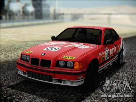 BMW M3 E36 for GTA San Andreas bottom view