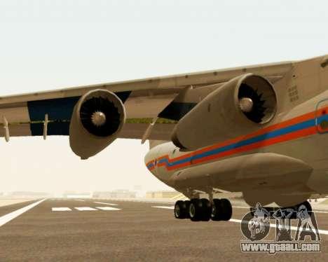Il-76td EMERCOM of Russia for GTA San Andreas back view