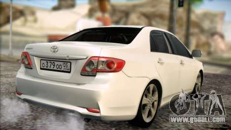 Toyota Corolla 2012 for GTA San Andreas right view