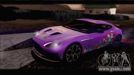Aston Martin V12 Zagato 2012 [IVF] for GTA San Andreas bottom view