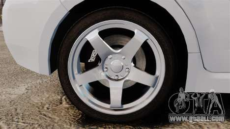Subaru Impreza 2010 for GTA 4 back view