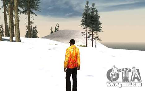Sochi 2014 jacket for GTA San Andreas second screenshot