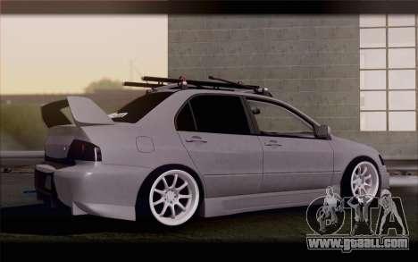 Mitsubishi Lancer Evolution Stance for GTA San Andreas left view