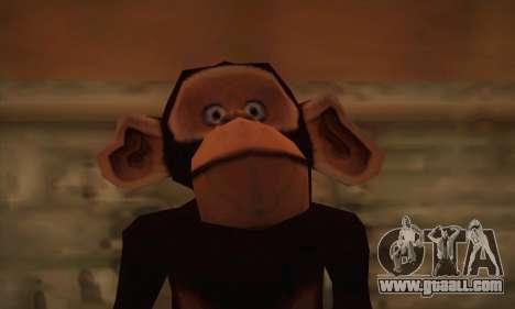 Chimp for GTA San Andreas third screenshot