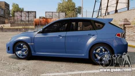 Subaru Impreza 2010 for GTA 4 left view